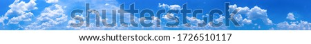 Beautiful blue sky background with tiny clouds.Panorama Royalty-Free Stock Photo #1726510117