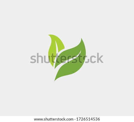 Eco icon green leaf vector illustration Royalty-Free Stock Photo #1726514536