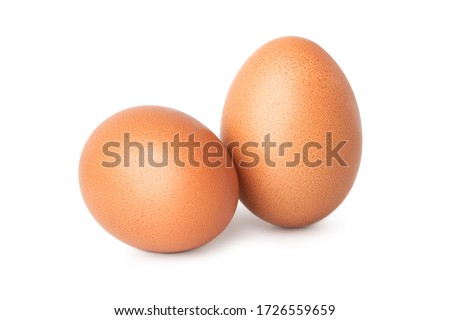 two chicken egg isolate on white background Royalty-Free Stock Photo #1726559659