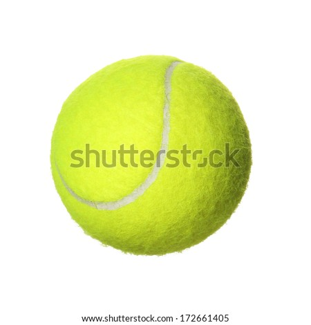 Tennis Ball isolated on white background. Closeup #172661405