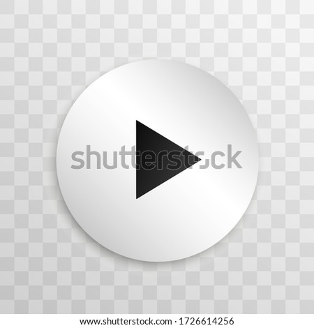 Video player for web and mobile apps flat style. Vector illustration. #1726614256