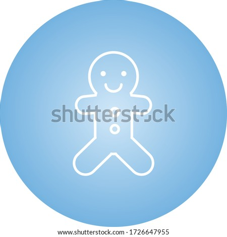 Beautiful Ginger Bread Line Vector Icon #1726647955
