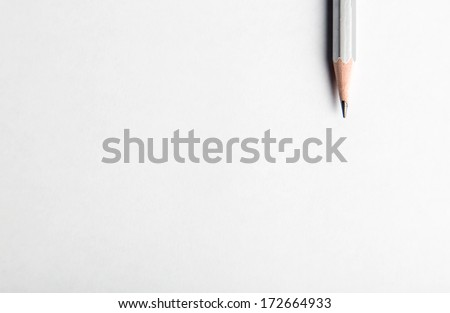 pencil on table, the blogger instrument #172664933