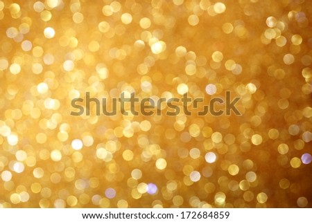 Gold glittering christmas lights. Blurred abstract background #172684859