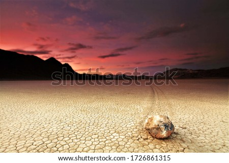 picture of Amazing view sunset on hill at death valley usa,Sailing Stone