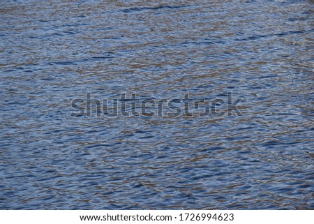Wavy surface of the river on a sunny day #1726994623