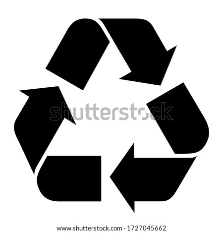 Vector illustration of recycle mark. Royalty-Free Stock Photo #1727045662