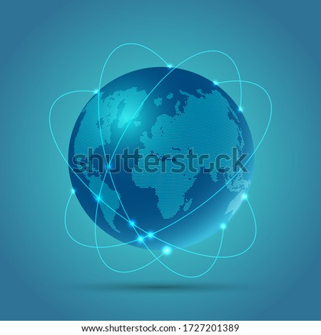Abstract globe background with a design depicting network communications #1727201389
