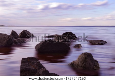 Stones on a background of water. #1727247163