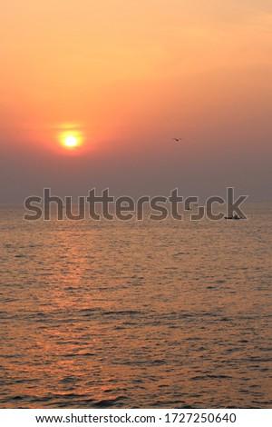 sunrise in the sea. ocean sunrise #1727250640