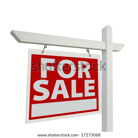 Home For Sale Real Estate Sign Isolated on a White Background. #17273068