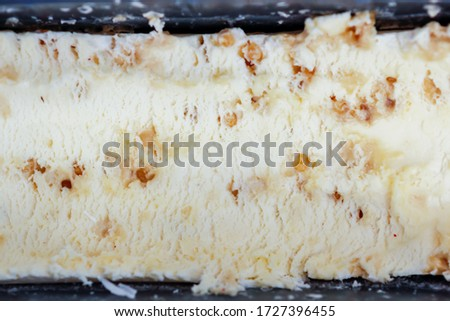 Abstract blur background,Picture of fruit ice cream in a container that is homemade ice cream With the products of fruit that are grown by oneself in order to get ice cream that is good for health