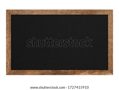 Brown wood frame or blackboard isolated on white background. Object with clipping path