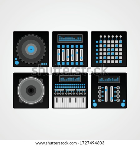 DJ or DUBSTEP music icon vector