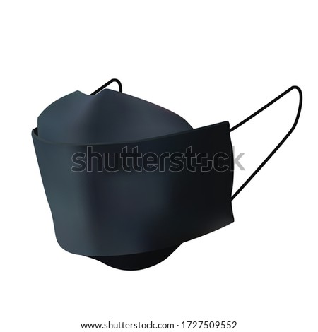 3d realistic vector safety breathing mask, medical face mask, dust protection respirator and breathing medical respiratory mask, protect from Coronavirus and infection, isolated on white background. #1727509552