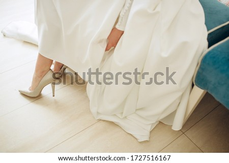 bride in wedding dress shoes. Bridesmaid shoes #1727516167