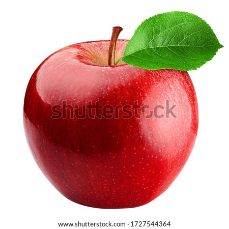 Red apple isolated on white background, clipping path, full depth of field Royalty-Free Stock Photo #1727544364