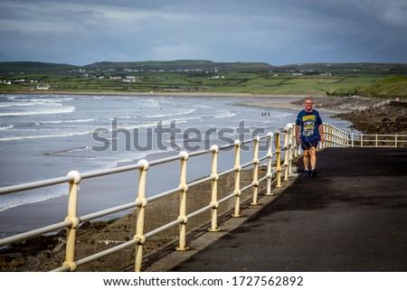 Lahinch boulevard, Wild atlantic way, Ireland, september 2016 #1727562892
