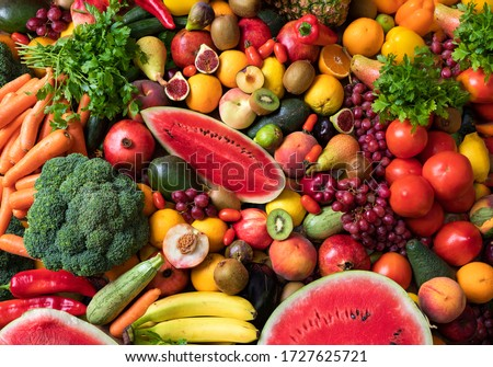 Variety of fruits and vegetables #1727625721