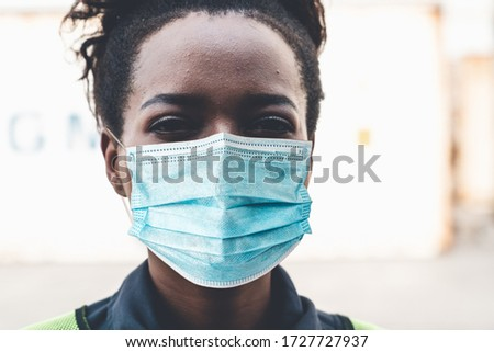 Factory workers with face mask protect from outbreak of Coronavirus Disease 2019 or COVID-19. Concept of protective action and quarantine to stop spreading of Coronavirus Disease 2019 or COVID-19. #1727727937