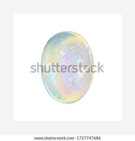 Diamond Ethiopian Opal Shape Gemstone