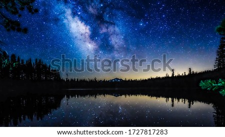 Milky way in the night sky Royalty-Free Stock Photo #1727817283