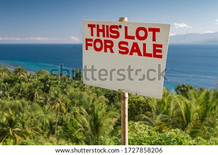 Lot for sale - real estate concept in tropical country