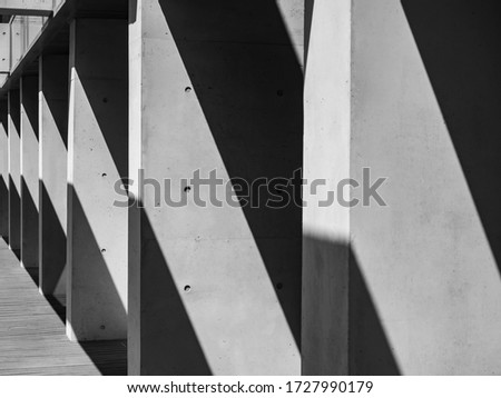Architecture details Modern Building Concrete columns space perspective Abstract background #1727990179