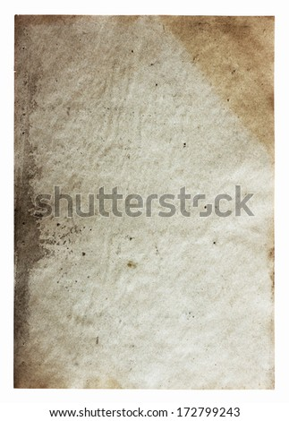 old paper isolated on white background with clipping path #172799243