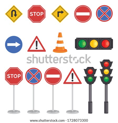Traffic Concept With Lights And Equipments Royalty-Free Stock Photo #1728073300