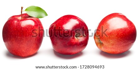 Red Apples on white. This file is cleaned, retouched and contains clipping path. Royalty-Free Stock Photo #1728094693