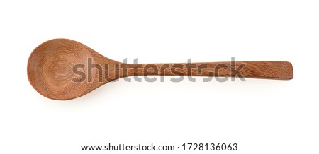 Wooden spoon isolated on a white background, photography  Royalty-Free Stock Photo #1728136063