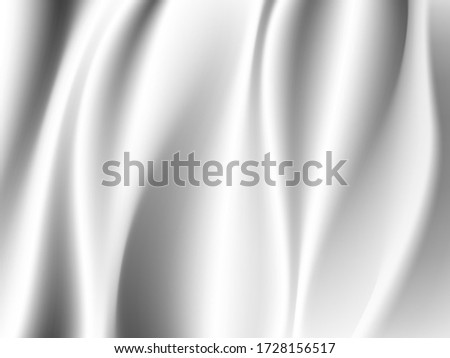 white silk cloth fabric wave overlapping with light and shadow. white and gray abstract texture background and copy space for web design #1728156517