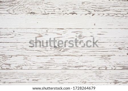 White wood texture background. Top view surface of the table to shoot flat lay. #1728264679