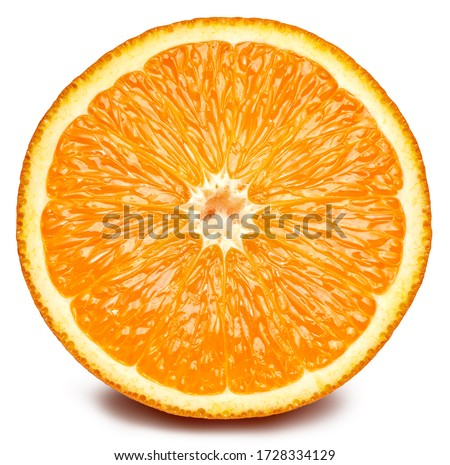Orange fruit. Orange half isolated on white background. Orange with clipping path. #1728334129
