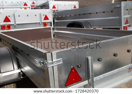 Open car trailer. Trailer for passenger cars.Sale, rental and maintenance of trailers. #1728420370