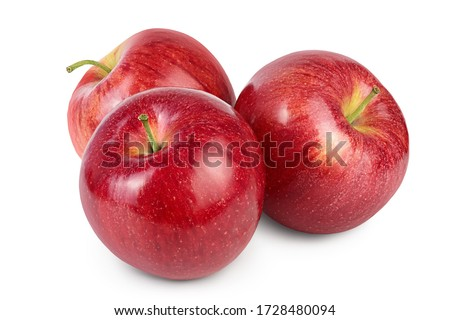 Red apple isolated on white background with clipping path and full depth of field Royalty-Free Stock Photo #1728480094