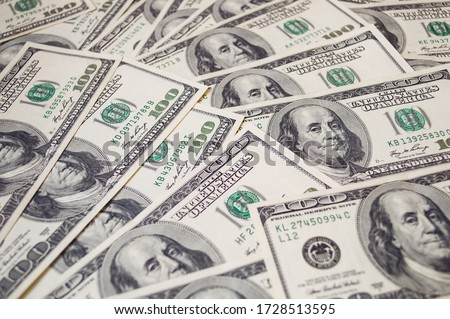 dollars banknotes background. global financial crisis concept  Royalty-Free Stock Photo #1728513595