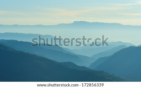 view of mountain in morning #172856339