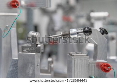 accurate 3D measurement of plastic castings with a modern machine. Creating a three-dimensional projection in a computer. industry 4.0 Royalty-Free Stock Photo #1728584443