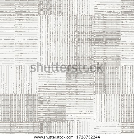 Fancy fabric linen, juta blended with wool washed coat surface jacquard  texture digital printing pattern design. Yarns for sports style/ Vector fabric seamless pattern. Abstract natural textured  #1728732244