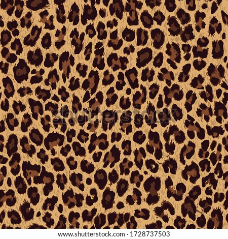 Vector seamless pattern. Leopard skin texture Royalty-Free Stock Photo #1728737503