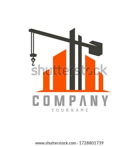 Building Construction Logo Templare Crane Concept Isolated Logo Vector Royalty-Free Stock Photo #1728801739