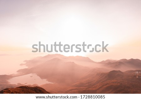 Sunset view at Lantau Island.