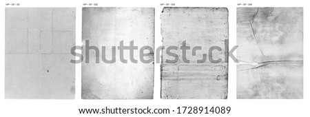 Vintage Paper Texture Pack Aged folded paper backgrounds Royalty-Free Stock Photo #1728914089