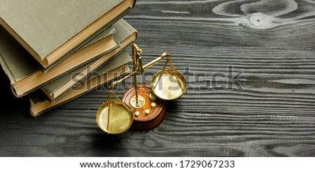 Law concept - Open law book with a wooden judges gavel on table in a courtroom or law enforcement office isolated on white background. Copy space for text #1729067233