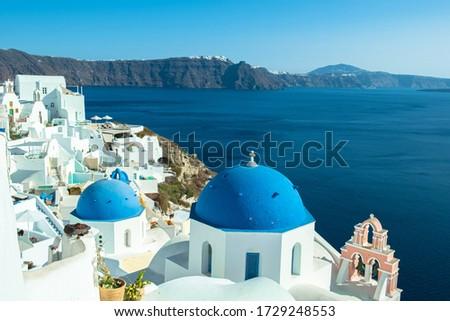 The Blue Dome Churches of Oia #1729248553