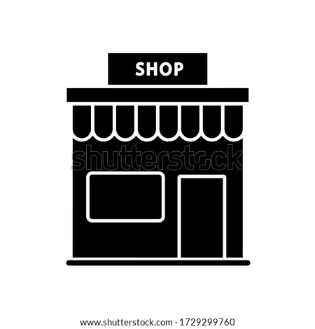 Store icon, vector illustration. Flat design style. vector store icon illustration isolated on white background, store icon Eps10. store icons graphic design vector symbols. #1729299760
