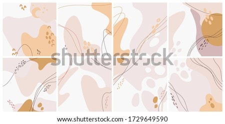 Abstract minimalist poster backgrounds. Vector art illustration. #1729649590