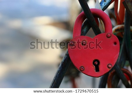 Padlock as a symbol of eternal love among different peoples of the world #1729670515